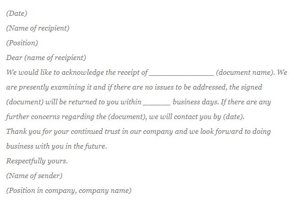 How to write acknowledgement letter acknowledgment sample in the letter header you should include name and addresses of your company and recipient below you should put the date when the letter is being altavistaventures